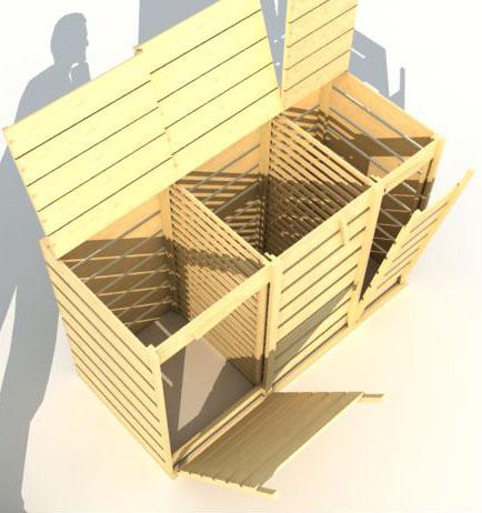 construire un composteur silo compost construire un silo. Black Bedroom Furniture Sets. Home Design Ideas
